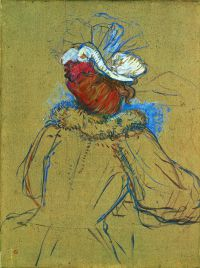 Femme rousse vue de dos