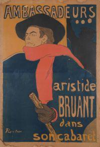 Ambassadeurs. Aristide Bruant dans son cabaret.